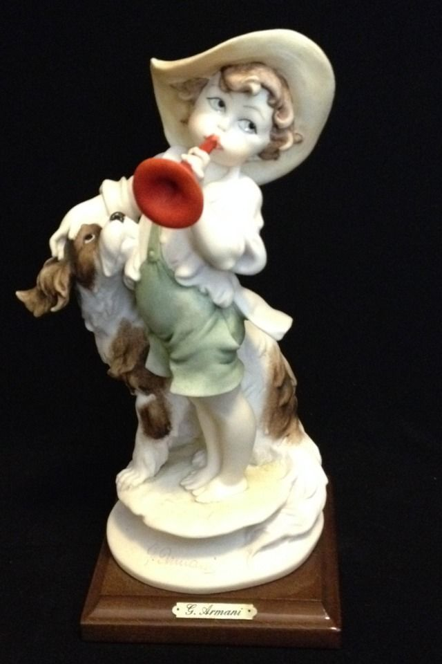 Giuseppe Armani Florence 9 Tall 796 C Trumpet Figurine Mint Condition C Trumpet Armani Collection Mint Condition