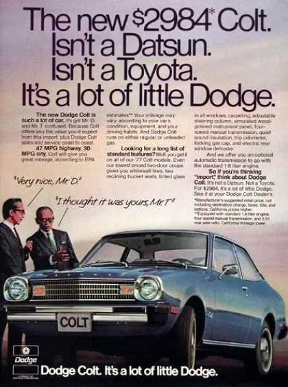 Dodge Colt Coupe (1977)