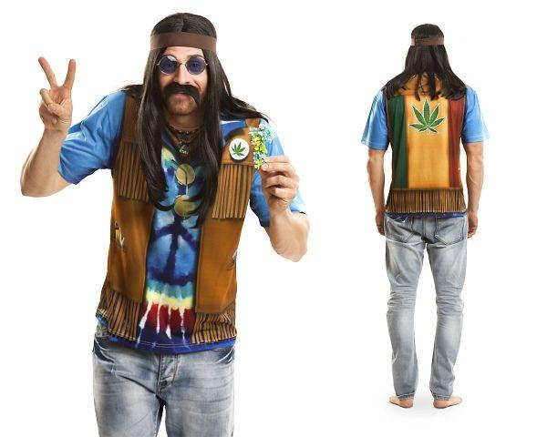 cooles hippie t shirt f r herren werden sie teil der. Black Bedroom Furniture Sets. Home Design Ideas