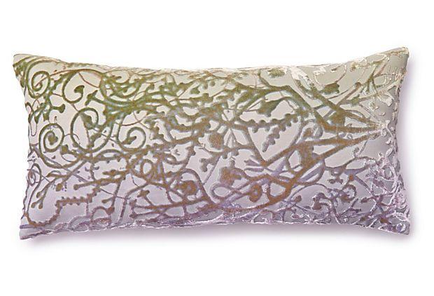 Shimmer 7x15 Velvet Pillow, Lilac/Mint on OneKingsLane.com