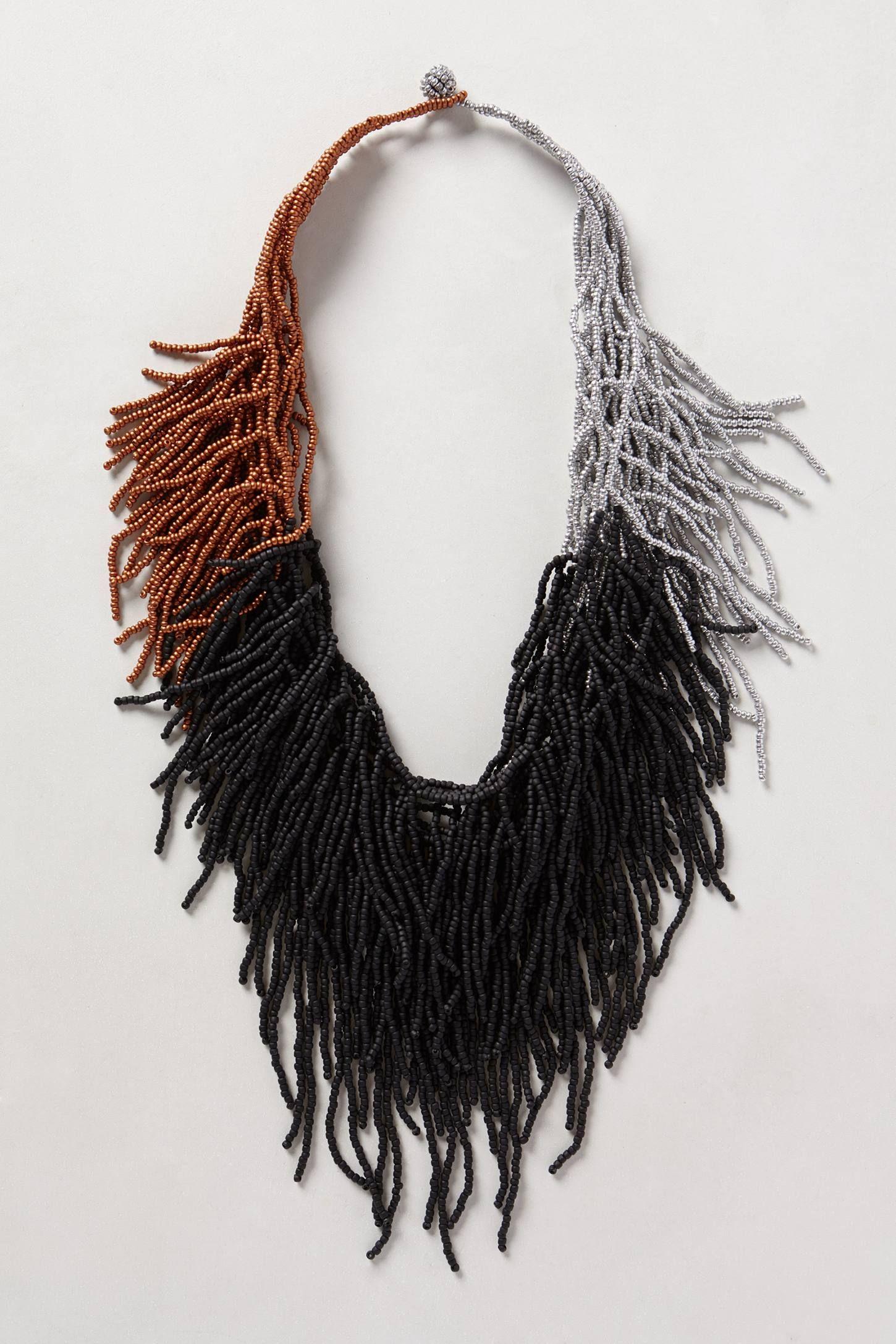 Cascade Fringe Necklace - anthropologie.com