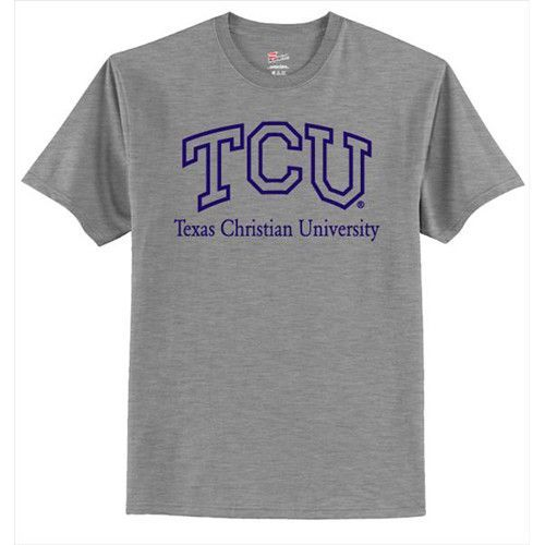 Texas Christian Horned Frogs NCAA Grey T-shirt (Small)