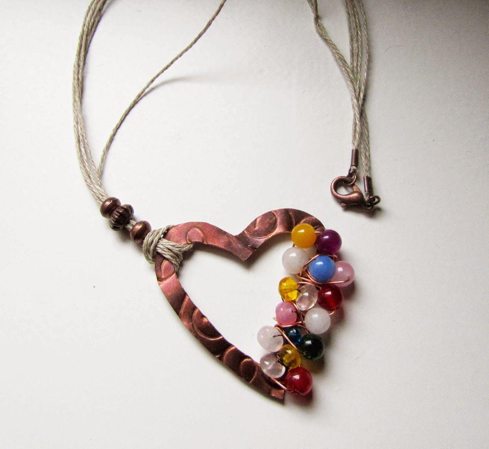 40 joyas de Ana Rivero, blog de bisutería y complementos y moda: Collar de cobre con cristales