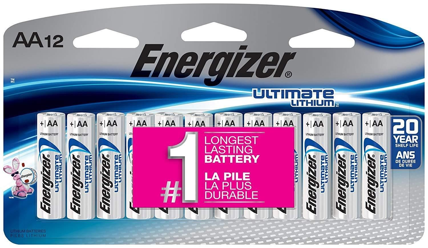 Energizer L91sbp 12 Ultimate Lithium Aa Universal Battery 12pk 9 04 After Coupon And 15 S S Energizer Jump A Car Battery Lithium Battery