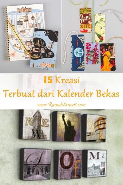 15 Kreasi Terbuat Dari Kalender Bekas Kalender Sampul Buku