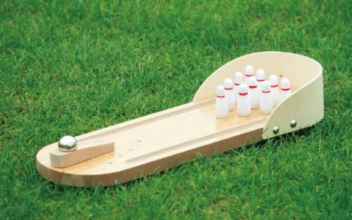 Clic Miniature Bowling Alley Wooden Mini Set Office Board