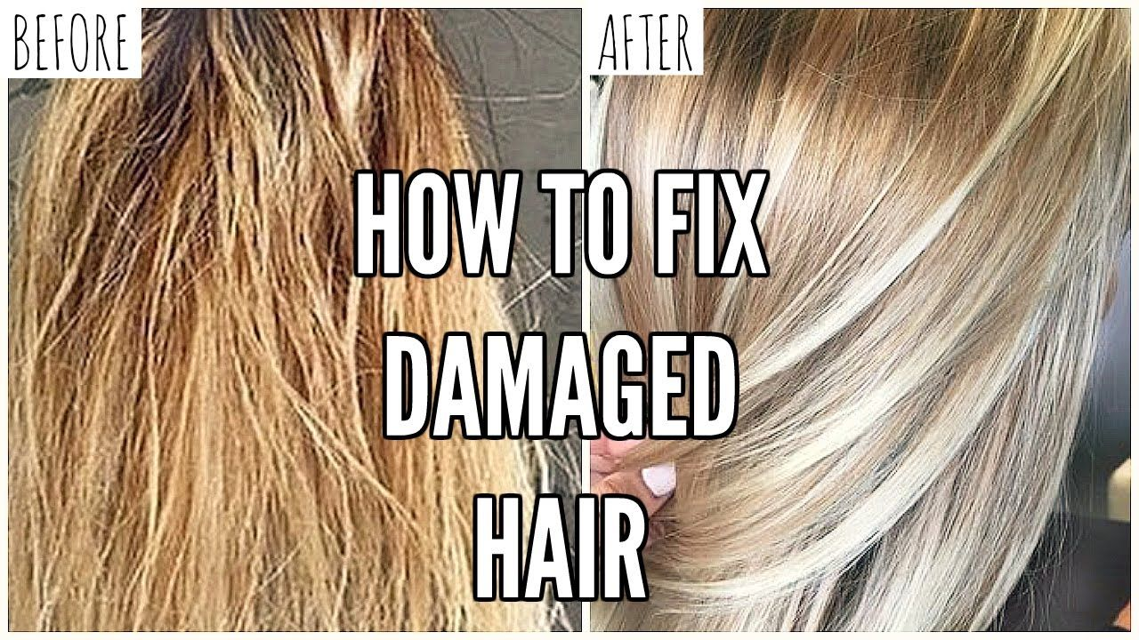 how to repair dry damaged bleached hair