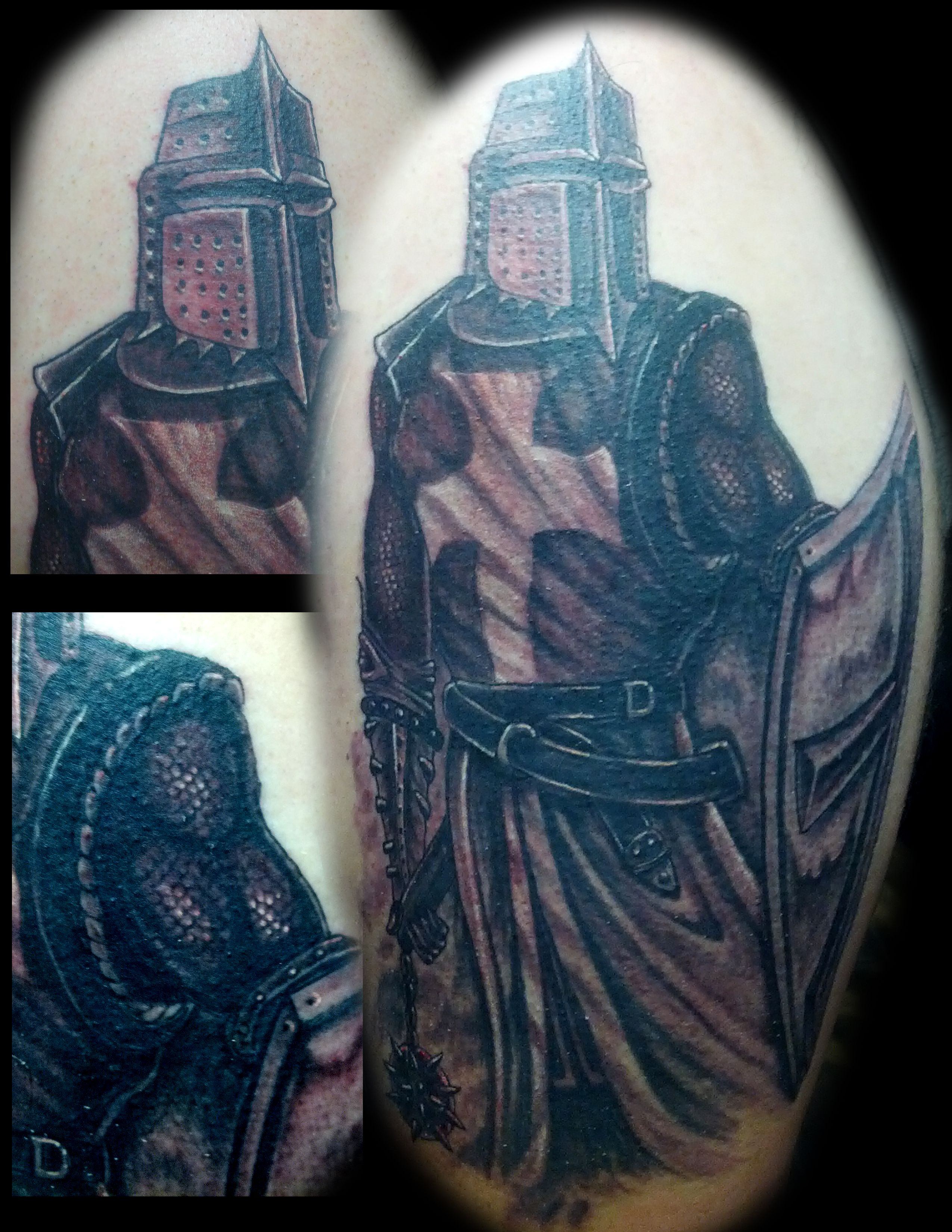 templar knight knight tattoo boneface ink ink addiction matt matts
