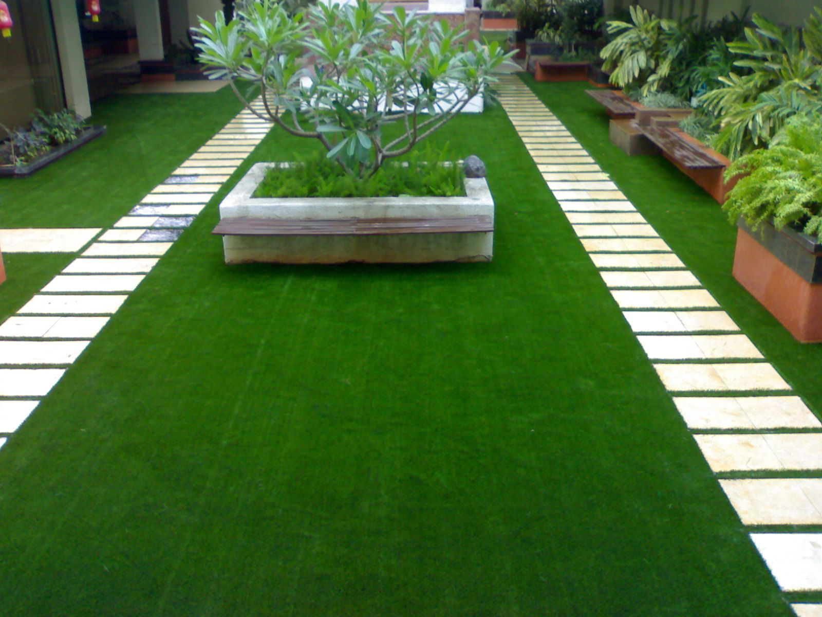 We provide both indoor as well as outdoor grass carpet which is