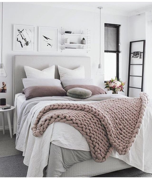 Lovely cool Ready for fall with chunky knit throw… bedroom ideas Unique - Cool neutral bedroom ideas Fresh