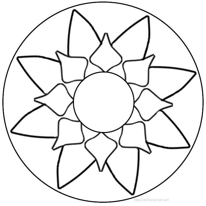 10 Mandalas fáciles para colorear, tanto para