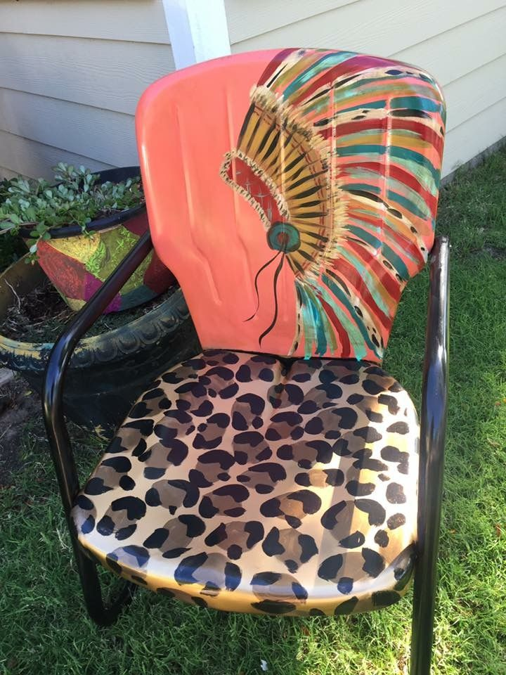 Would LOVE This On My Rocking Chair!!!! Painted ChairsPainting Metal ...