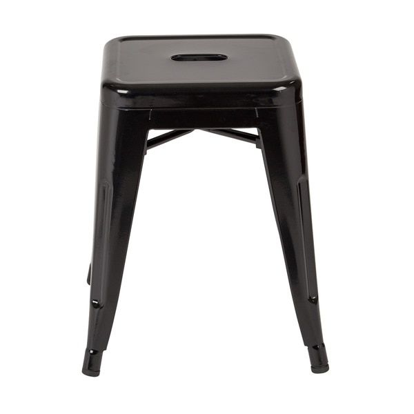 office star products 18 inch fully assembled metal backless stool