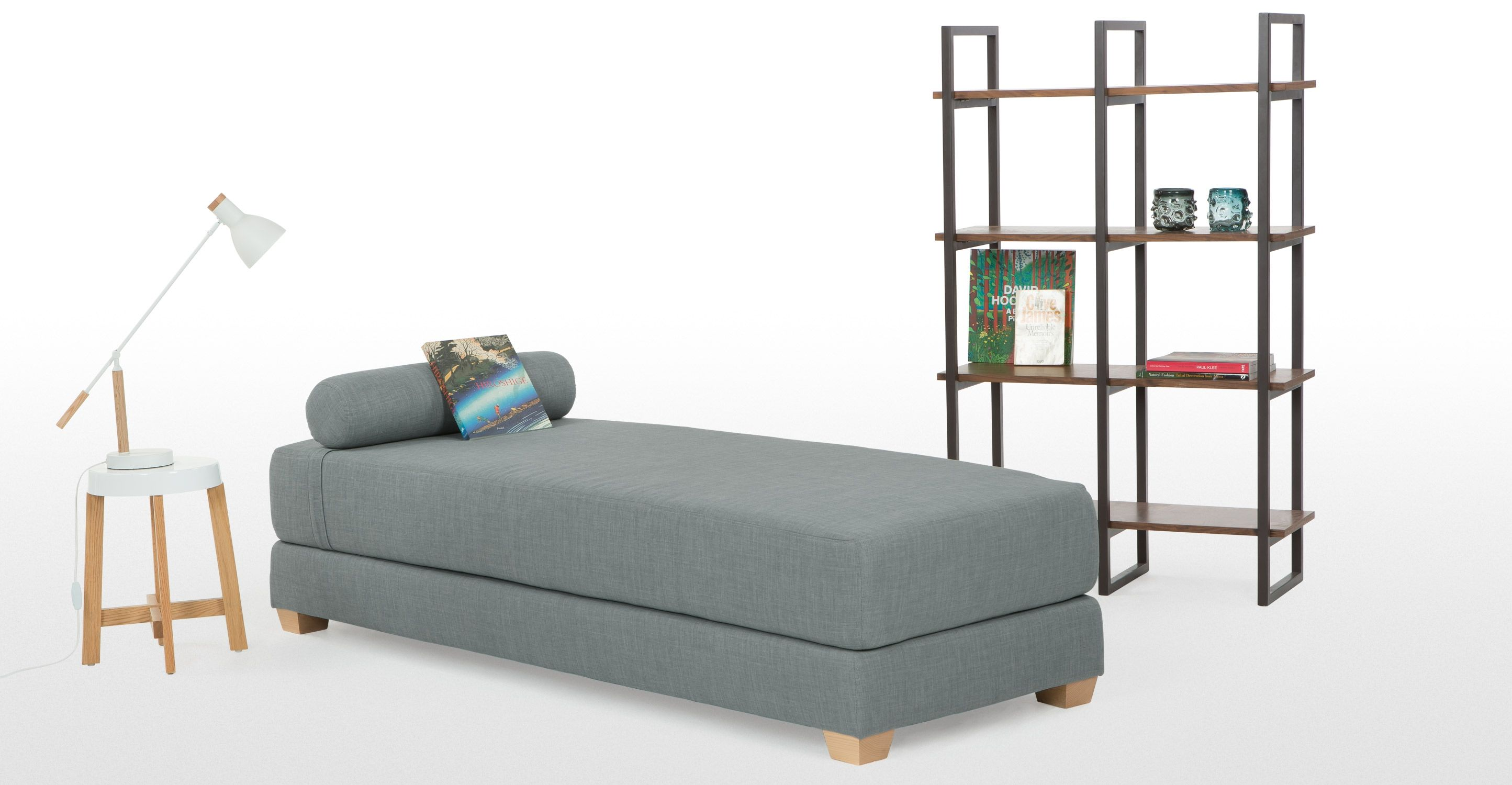 Romy Day Bed in Venetian blue made Furniture
