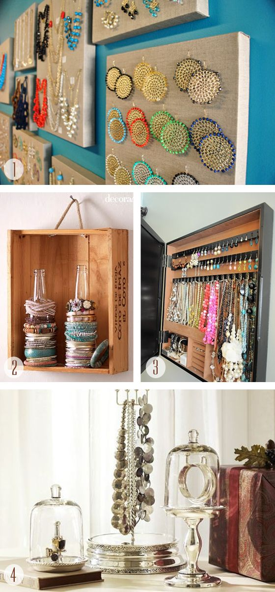 Jewellery organizer I am going to try the bottles for bracelets
