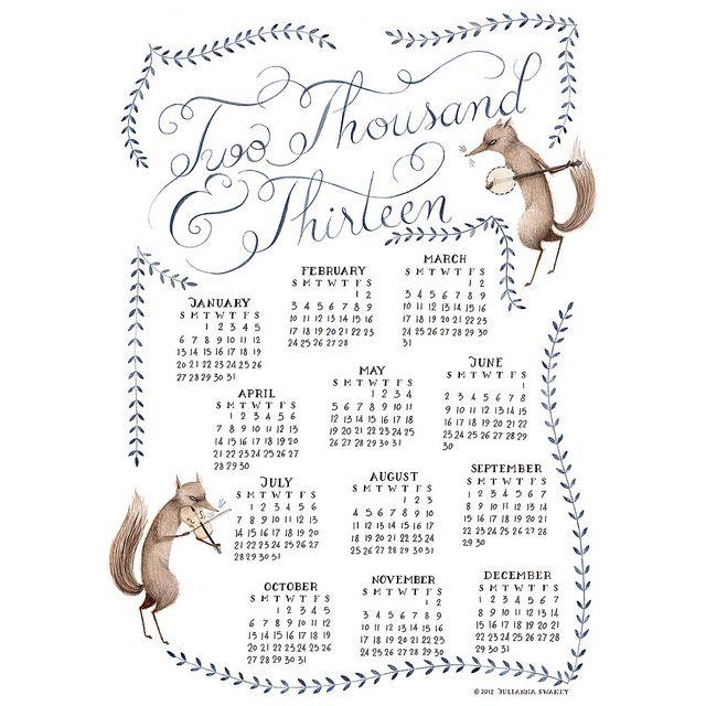 2013 Calendar by ohmycavalier, via Flickr