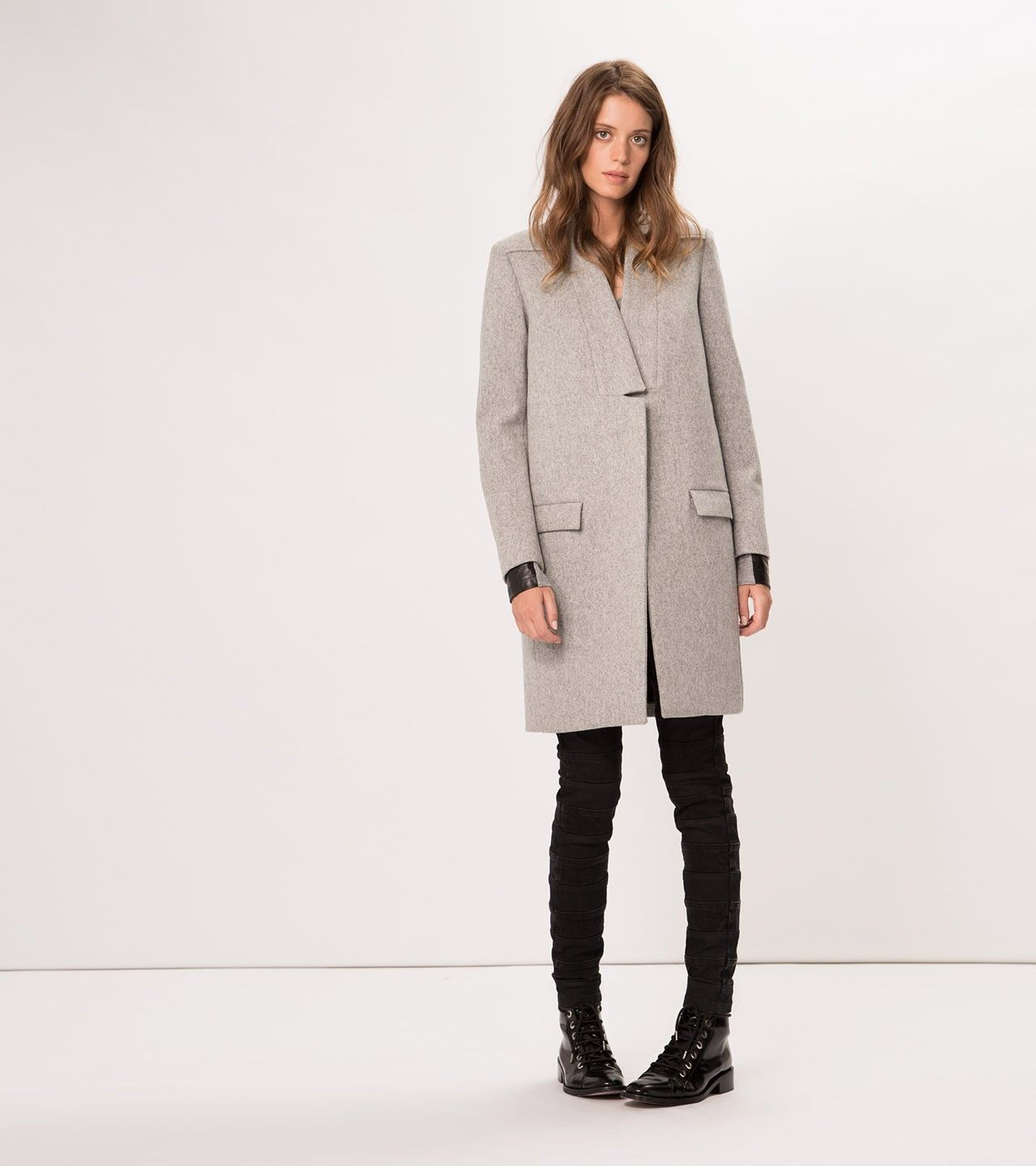 maje KLINTON Straight Fit Wool Coat at Maje US | Stuff to Buy ...