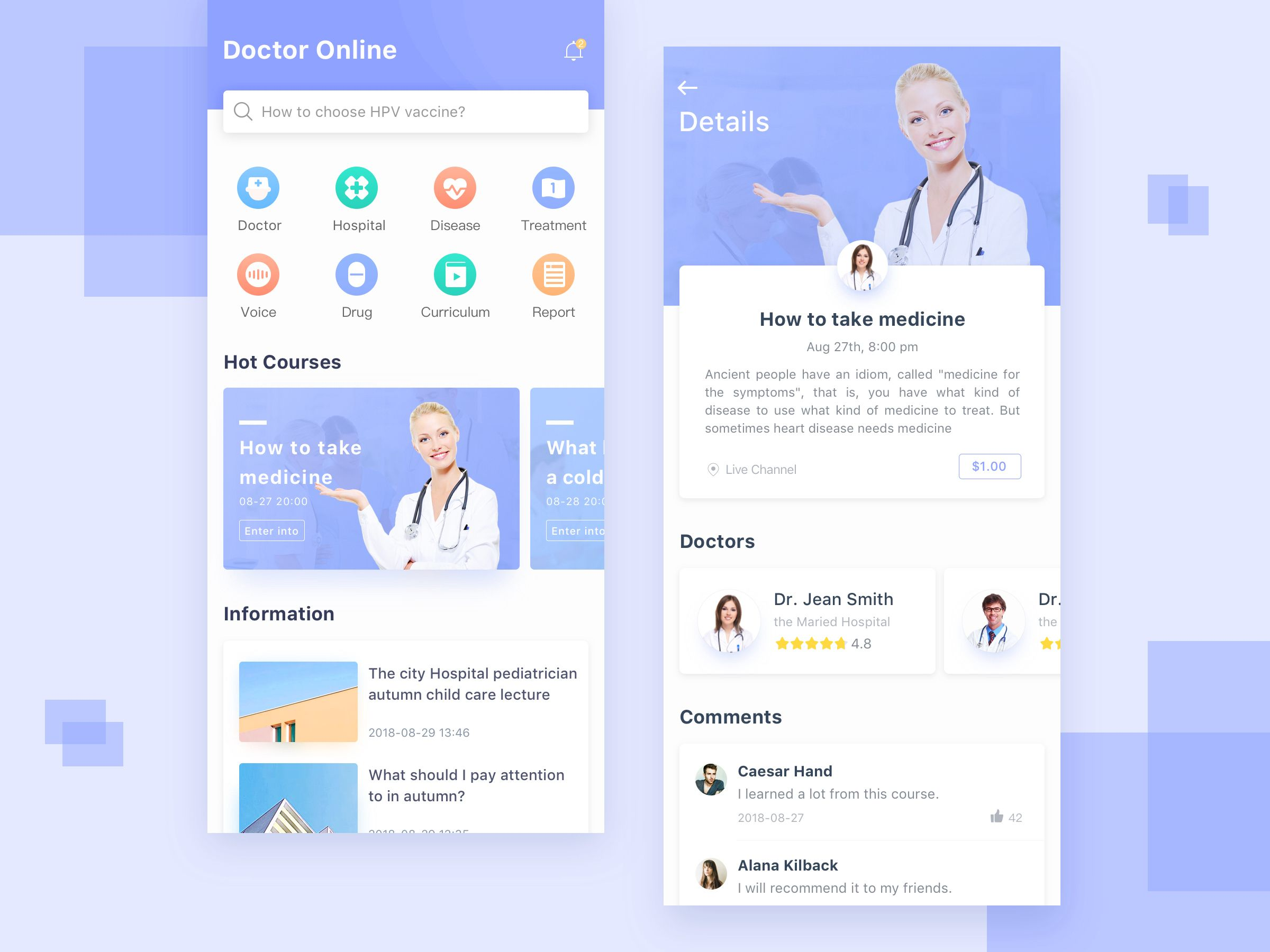 App doctor business website design app