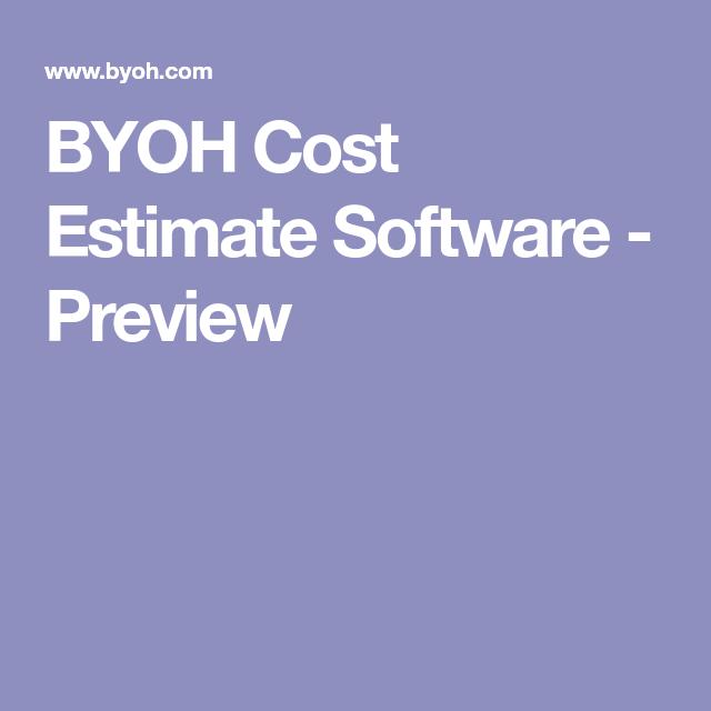 Byoh Cost Estimate Preview