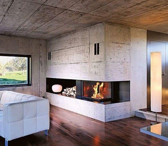 camino-ad-angolo-con-focolare-chiuso-162158  Houses and what not  Pinterest  Focolare, Camini ...