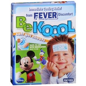 Mickey Fever Reducer Pads Be Koool Soft Gel Sheets For Kids 4