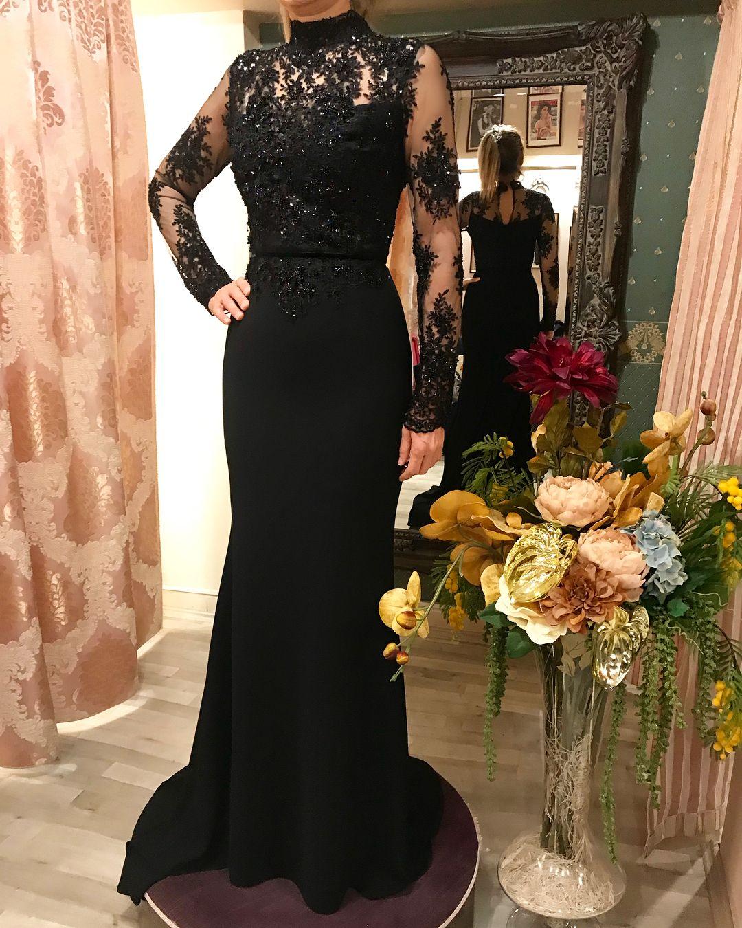 Black Elegancy Elifsimal Dresses Mermaid Formal Dress Formal Dresses Long