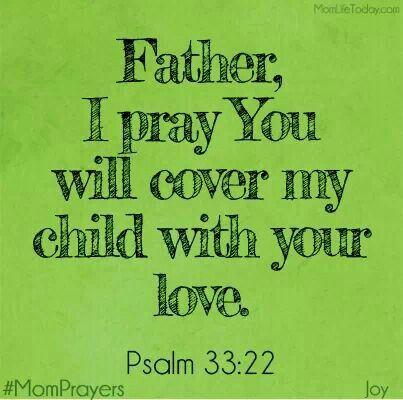 Pray for my child