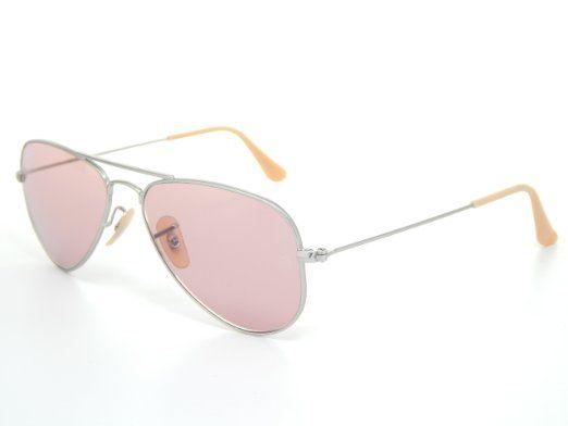 Amazon.com: New Ray Ban Small Aviator RB3044 019/4B Silver/Pink Photochromic Lens 52mm Sunglass: Clothing