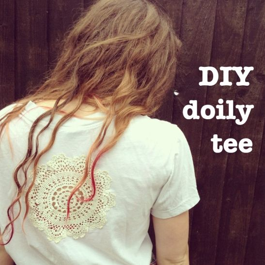 DIY Doily Tee Shirt Tutorial