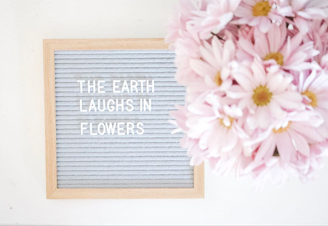 Love a good Letter spring positive vibes spring
