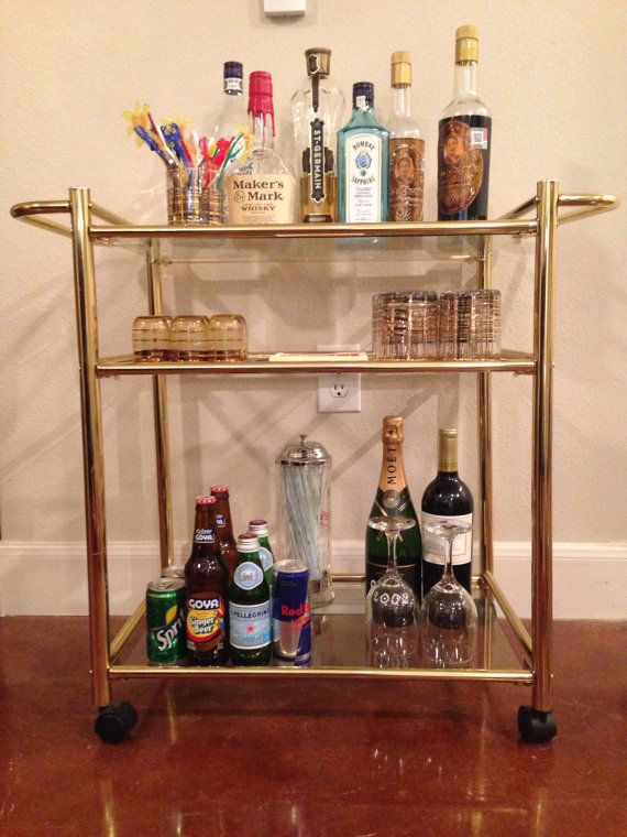 Elegant Mid Century Modern Bar Cart