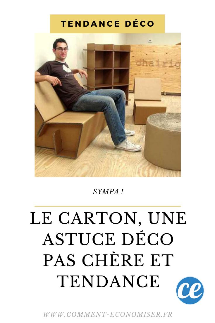 Le Carton Une Astuce Decoration Pas Chere Et Tendance Carton Astuces Mon Cheri