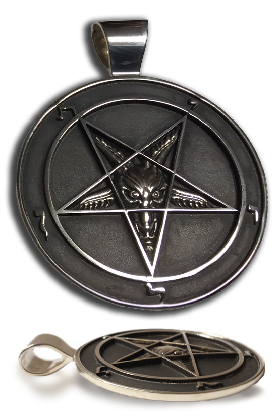 Officially Licensed and Endorsed by the Church of Satan Sigil of Baphomet Medallion, Pendant, John H Shaw, iSatanist