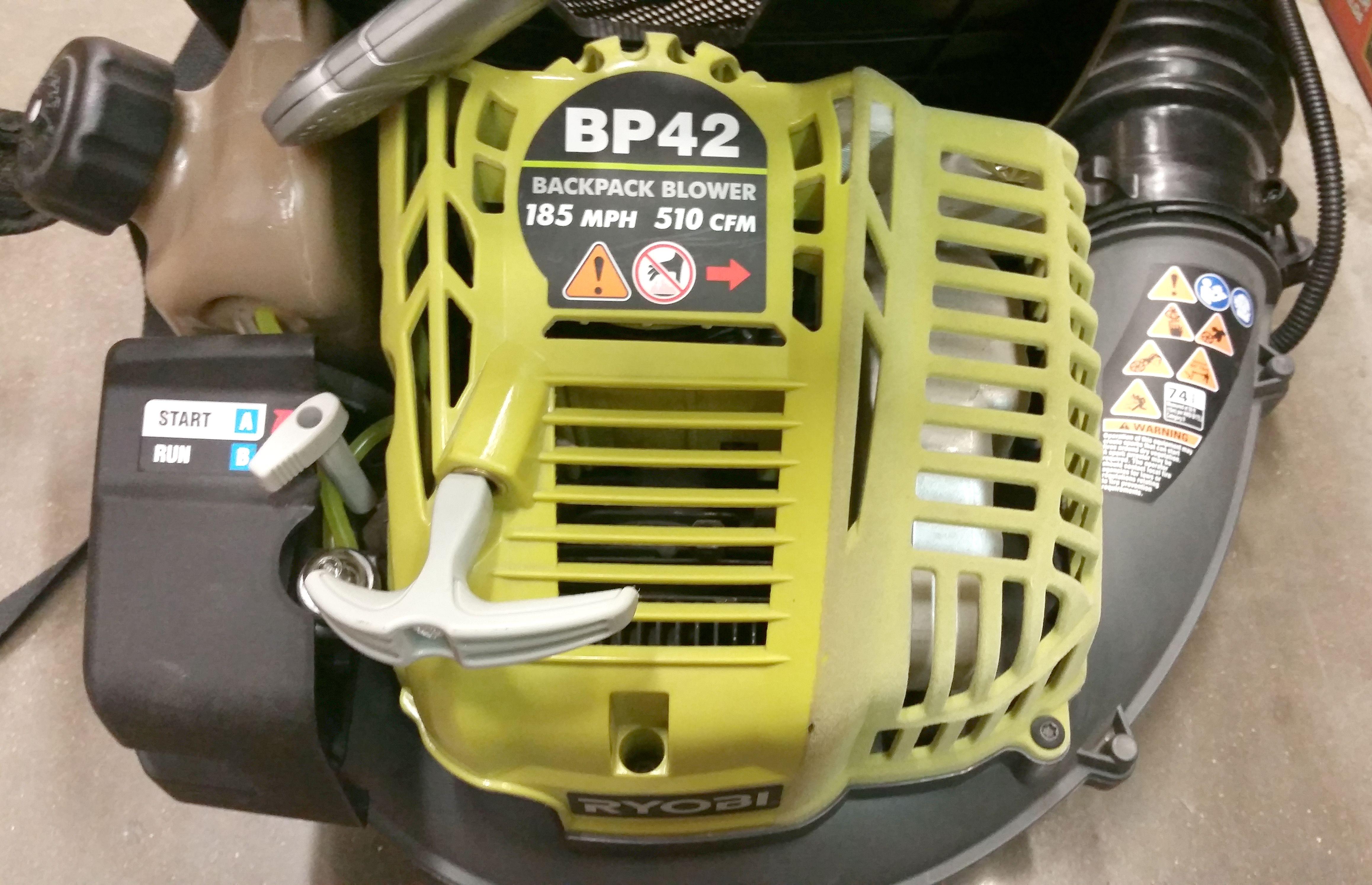 closer look at motor Outdoor power equipment, Backpacks