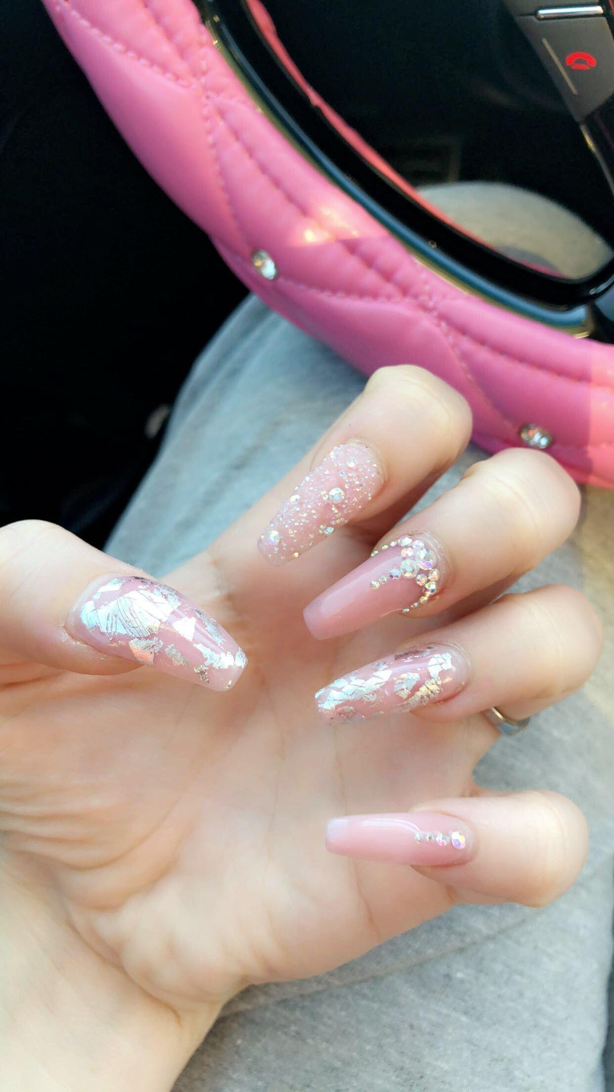 Light Pink Nails Nails Coffin Acrylic Diamonds Pink Claws Boujee Blush Pink Nails Light Pink Acrylic Nails Pink Acrylic Nails