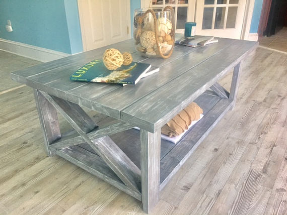 Rustic farmhouse coffee table Handmade