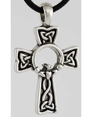 Celtic Claddagh Cross pendant N310 | FionasFancies - Jewelry on ...