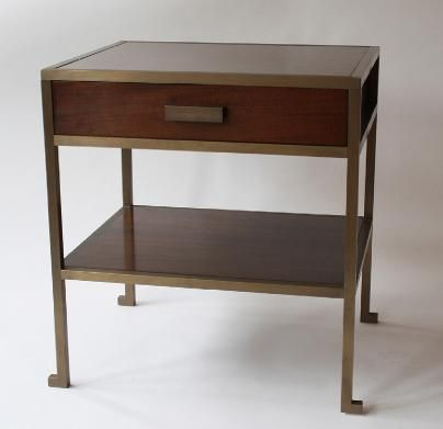 Best A Pair Of Bronzed And Mahogany Bedside Tables Paul 400 x 300