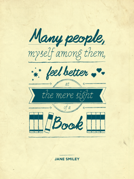 Books heal me Reading is my number one passion