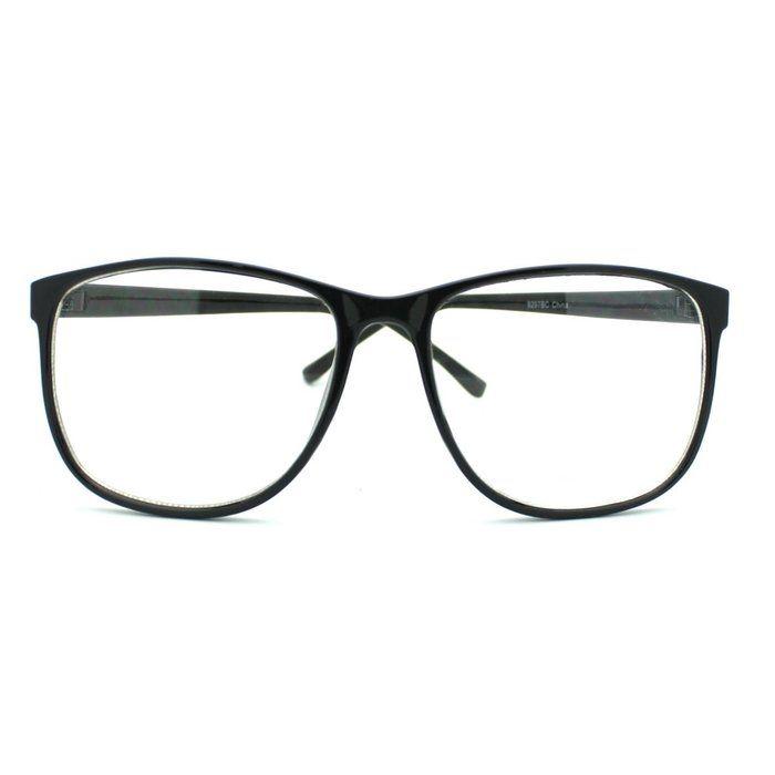 MJ Boutique\'s Black Large Nerdy Thin Plastic Frame Clear Lens Eye ...