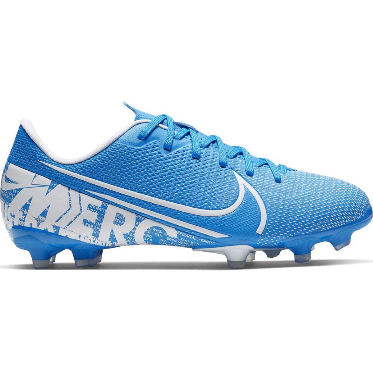 Football Boots Nike Mercurial Vapor 13 Academy Fg Mg Jr At8123 414 Blue Football Shoes Football Boots Nike Shoes