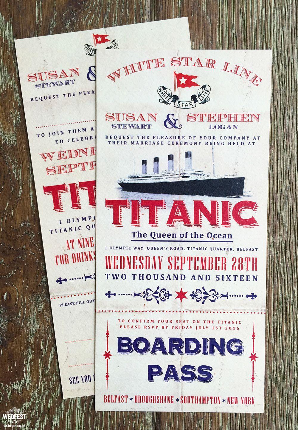 Titanic Themed Wedding Invitations Http Www Wedfest Co Titanic We