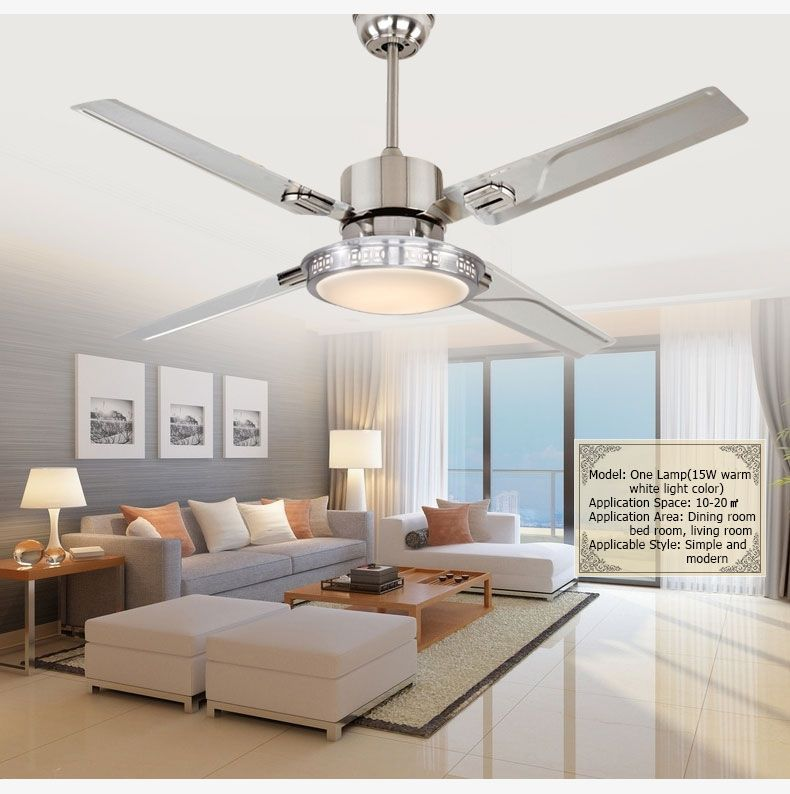Led Ceiling Fan Light With Remote Control Switch Luminous Efficiency Regulation And 4 Varia Bedroom Ceiling Light Bedroom Ceiling Fan Light Modern Ceiling Fan