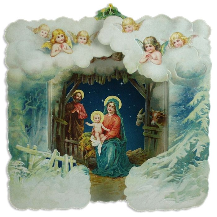 Открытки с рождественским вертепом