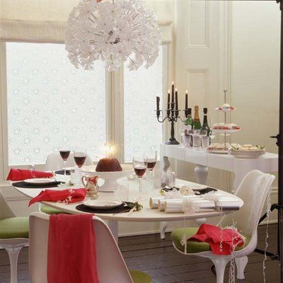 Modern Christmas Table Sweet And Mod
