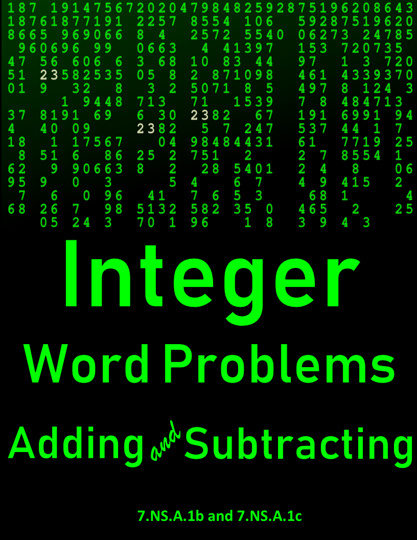 practice worksheets; adding and subtracting integers; word problems;  multiple select items   Integers word problems [ 1056 x 816 Pixel ]