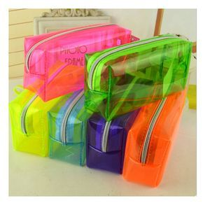 Bag Jelly Quality Bags Of Colored Sand Directly From China Cook Suppliers Fashion Stationery Pencil Transpa Candy Color Case