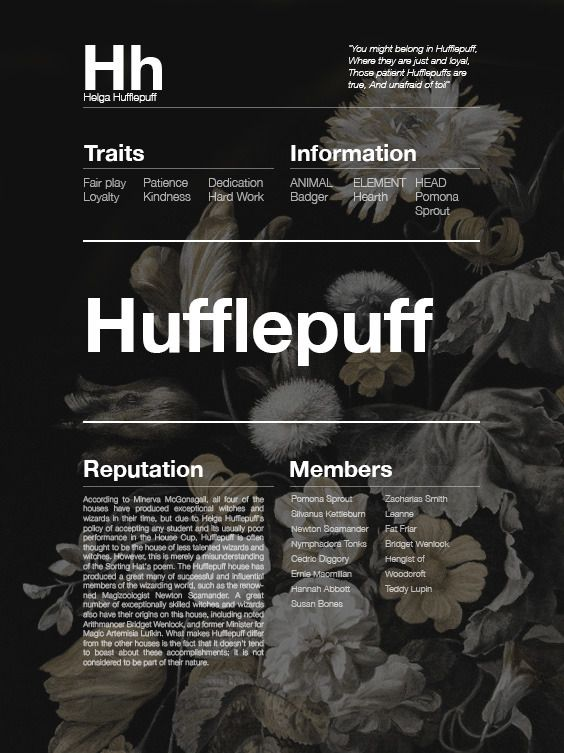 next time u think hufflepuffs arent as great as the other houses