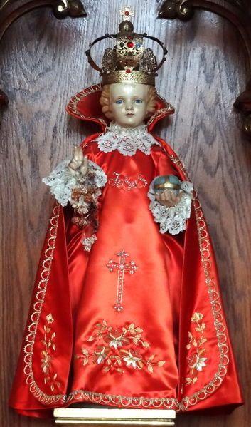 Red Infant of Prague Vestment