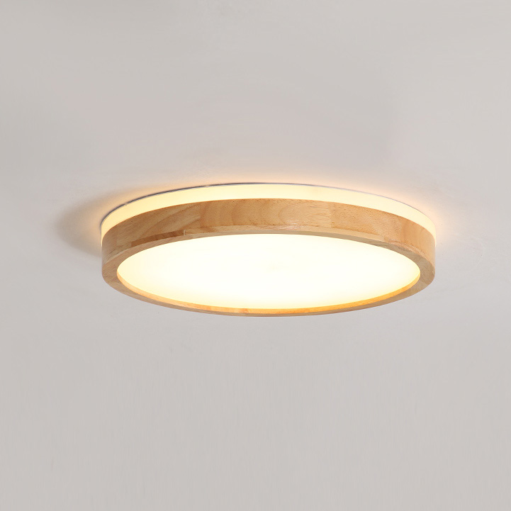 Scandinavian Wooden Round Led Dimmable Ceiling Light Ceiling Light Design Dimmable Ceiling Lights Bedroom Ceiling Light